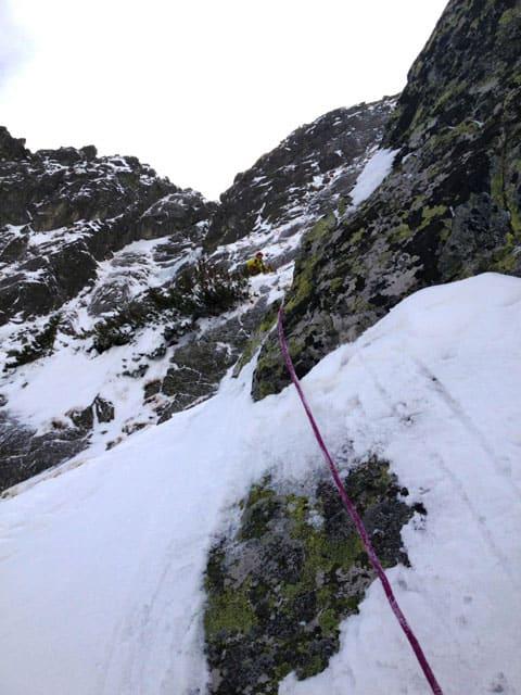 Šašov ľadopád v Kráľovskom žľabe