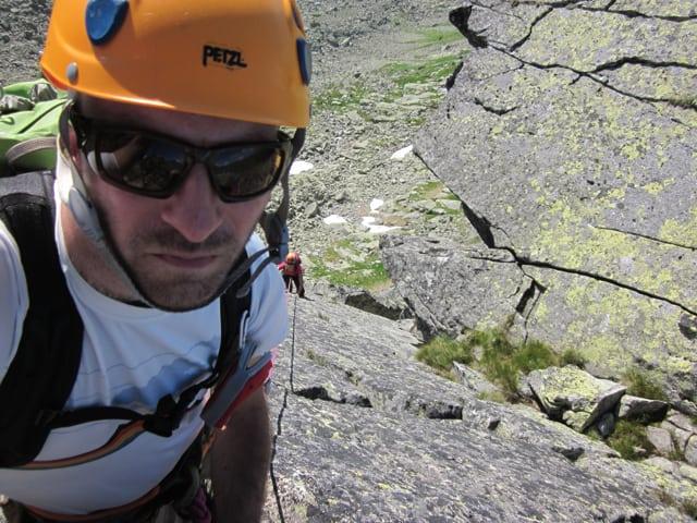 lezenie Dračím hrebeňom v III. stupni obtiažnosti
